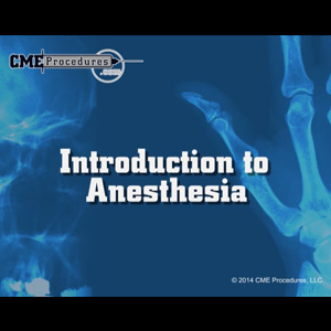 Introduction to Anesthesia